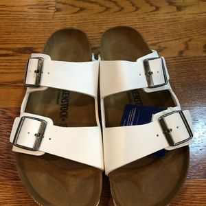 Birkenstock Arizona white 10 narrow